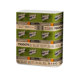 Паперові рушники листові, білі, Z-складання,  Selpak Pro. Essential. 32660340