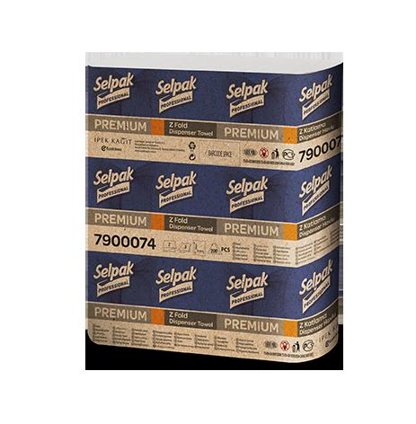 Бумажные полотенца листовые, белые, Z-укладка, Selpak Pro. Premium.32660130 - Фото №1