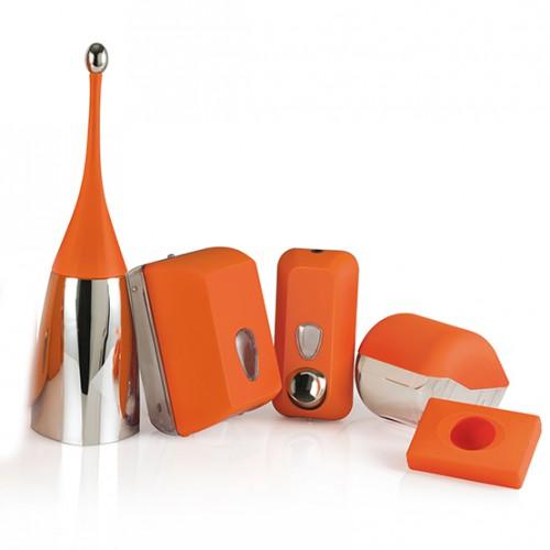 Урна для сміття, пластик помаранчевий, 23 л.  A74201AR - Фото №3