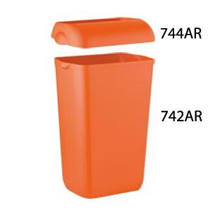Урна для сміття, пластик помаранчевий, 23 л.  A74201AR - Фото №4