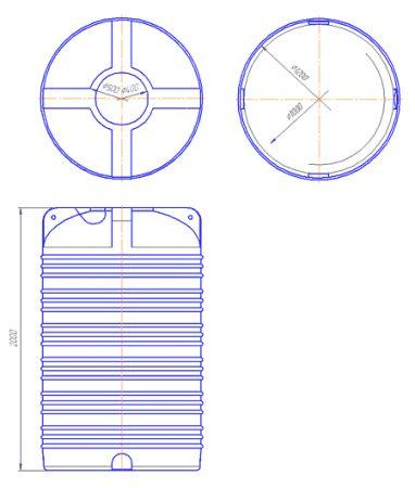Вертикальна емність типу V. V-2000 - Фото №2
