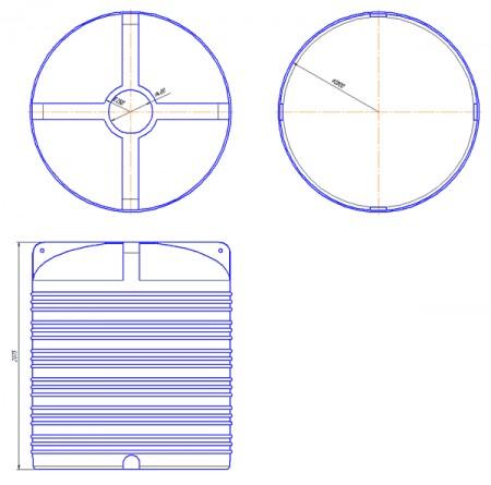 Вертикальна емність типу V. V-5000 - Фото №2