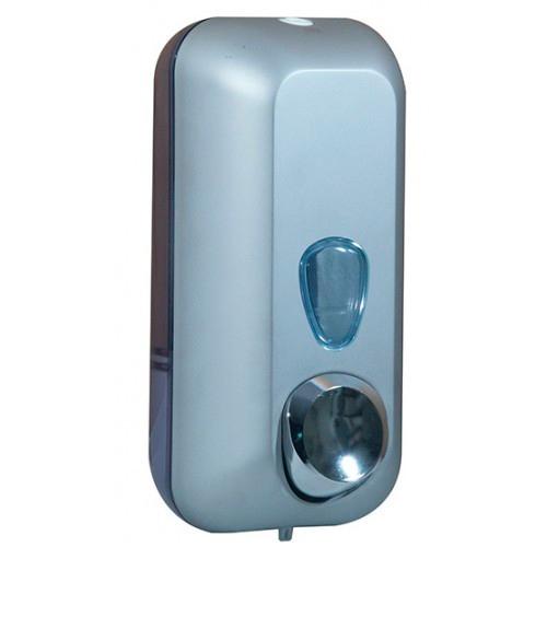 Дозатор рідкого мила 0.55 л, сатиновий/прозорий, пластик. A71401SAT - Фото №1
