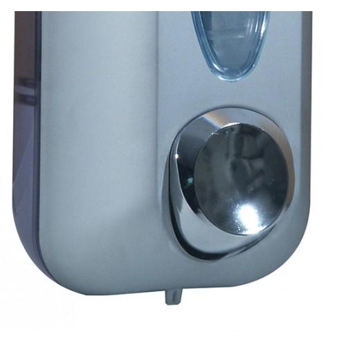 Дозатор рідкого мила 0.55 л, сатиновий/прозорий, пластик. A71401SAT - Фото №2