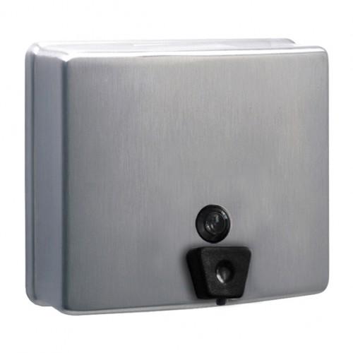 Дозатор рідкого мила нержавіючий метал матовий 1,3 л. DJ0115CS - Фото №1