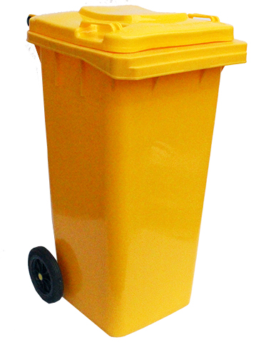 Бак для сміття  жовтий,120л. 120A-9Y - Фото №1