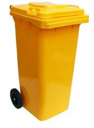 Бак для мусора  пластиковый 120л, желтый 120A-9Y - Фото