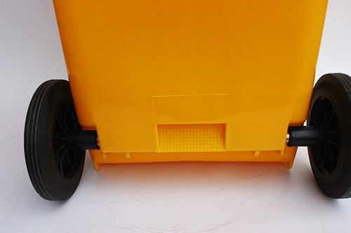 Бак для сміття  жовтий,120л. 120A-9Y - Фото №2