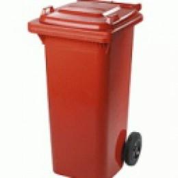 Бак для мусора  пластиковый 120л, красный  120A-9R - Фото
