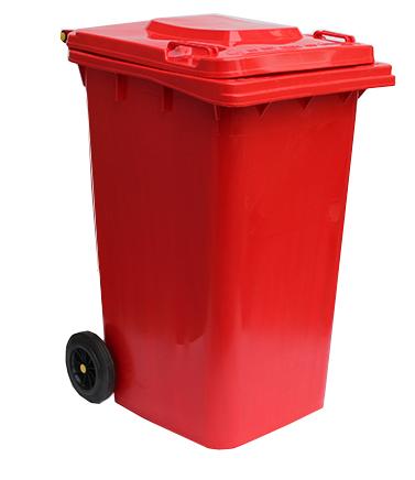 Бак для сміття  240л., червоний. 240H2-19R - Фото №1