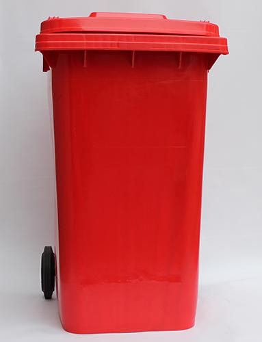 Бак для сміття  240л., червоний. 240H2-19R - Фото №2
