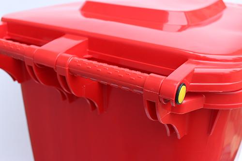 Бак для сміття  240л., червоний. 240H2-19R - Фото №3