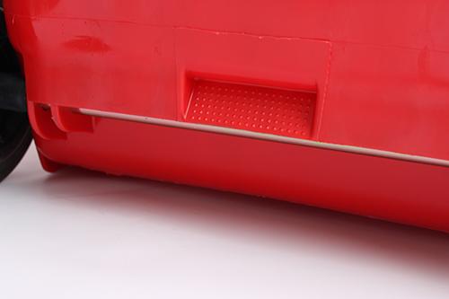 Бак для сміття  240л., червоний. 240H2-19R - Фото №4