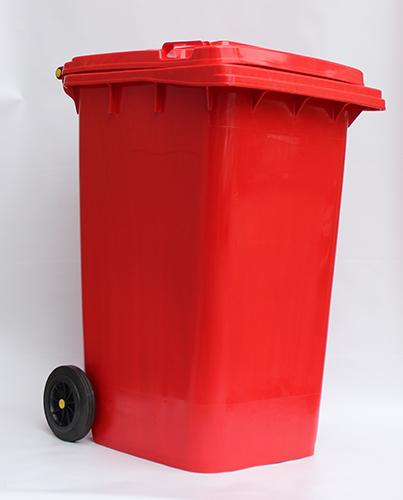 Бак для сміття  240л., червоний. 240H2-19R - Фото №5