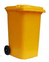 Бак для мусора  пластиковый 240л., желтый. 240H2-19Y - Фото