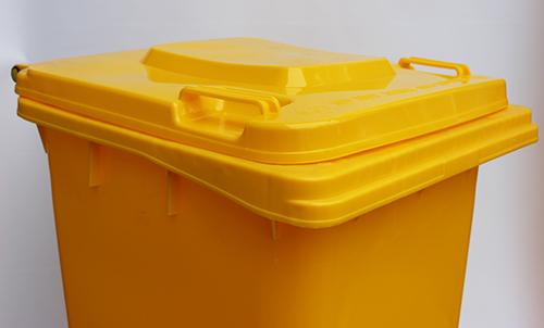 Бак для сміття  240л., жовтий. 240H2-19Y - Фото №2
