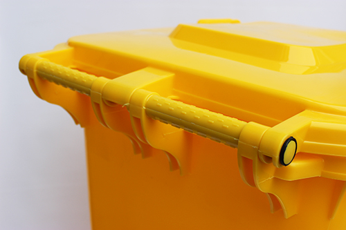 Бак для сміття  240л., жовтий. 240H2-19Y - Фото №3