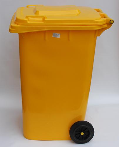 Бак для сміття  240л., жовтий. 240H2-19Y - Фото №5