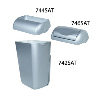 Корзина для мусора пластик сатиновый 23 л.  A74201SAT - Фото №2