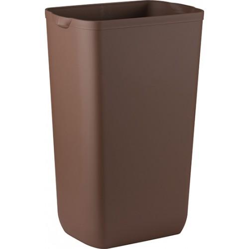Урна для сміття пластик коричневий 23 л.  A74201MA - Фото №1