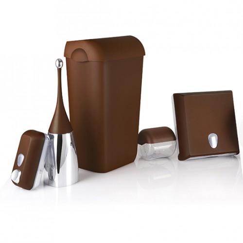 Урна для сміття пластик коричневий 23 л.  A74201MA - Фото №3