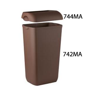 Урна для сміття пластик коричневий 23 л.  A74201MA - Фото №4