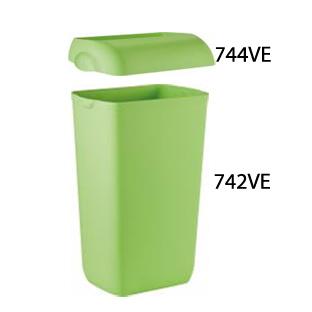 Урна для сміття пластик зелений 23 л.  A74201VE - Фото №4
