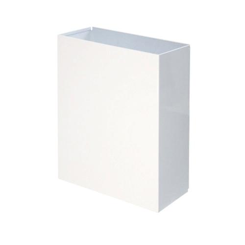 Корзина для паперових рушників метал білий 25л. M-125. - Фото №1