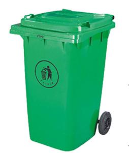 Бак для сміття пластиковий 360 л., зелений. 360А-2G. - Фото №1