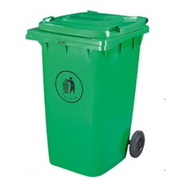 Бак для мусора пластиковый 360л., зеленый.  360А-2G - Фото