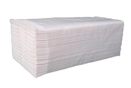 Бумажные полотенца листовые,  V-укладка, целлюлозные. PRv-160 . - Фото №1