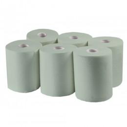 Паперові рушники, рулонні MIDI, зелені. P152.