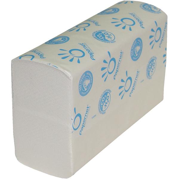 Паперові рушники листові, Z-складання, целюлозні 3 слоя.  406312. - Фото №1
