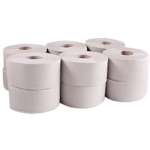 Туалетний папір рулонний, макулатура, Джамбо, сіра. B-101. - Фото №1