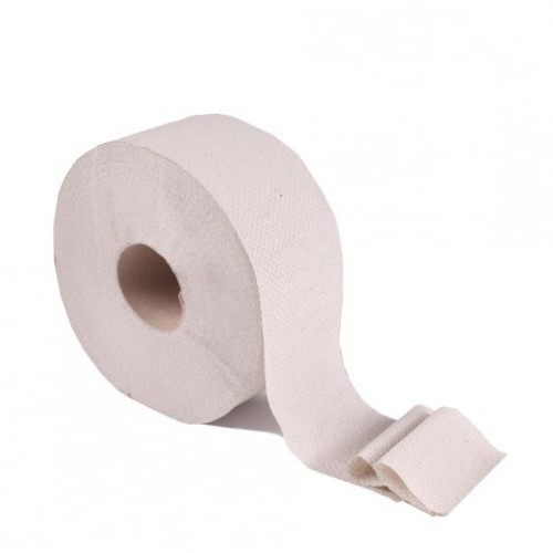 Туалетная бумага рулонная, макулатура, Джамбо, серая. B-101. - Фото №3