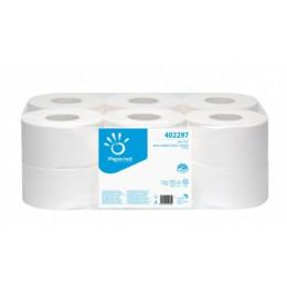 Туалетная бумага рулонная, целлюлоза, 2 слоя. Джамбо.  402297 - Фото