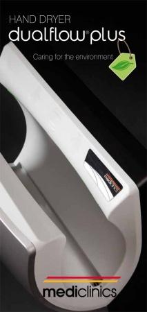 Электросушарка для рук енергозберігаюча.  DualFlow Plus. M14ACS. - Фото №3