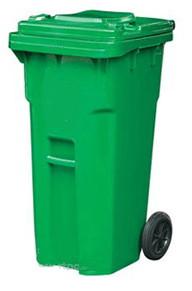 Бак для сміття 240л., Зелений. 240E-14G. - Фото №1