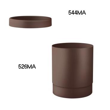 Відро для паперових рушників пластик коричневий 13 л. A52601МА - Фото №3