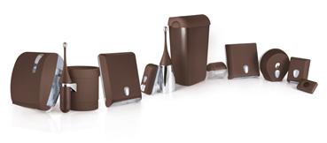Відро для паперових рушників пластик коричневий 13 л. A52601МА - Фото №4