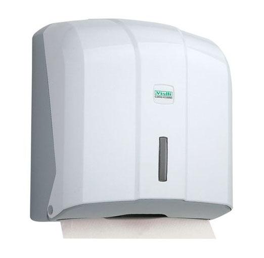 Держатель бумажных полотенец C, V складка, белый пластик. K4 - Фото №1