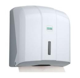 Держатель бумажных полотенец C, V складка, белый пластик. K4