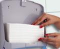 Тримач паперових рушників C, V складка, білий пластик. K4 - Фото №4