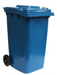 Бак для мусора  пластиковый 240л. синий.  240H2-19BL - Фото