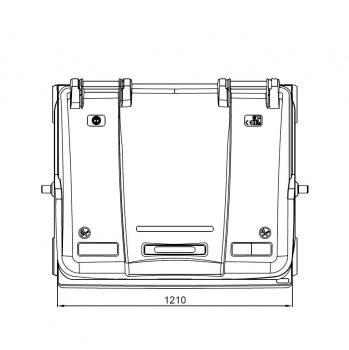 Контейнер пластиковий євростандарт, плоска кришка, темно-сірий. MGB1100 - Фото №5
