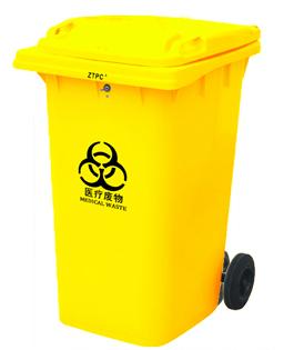 Бак для мусора пластиковый 360л., желтый. 360А-2Y - Фото №1