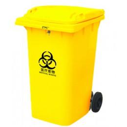 Бак для мусора пластиковый 360л., желтый. 360А-2Y - Фото