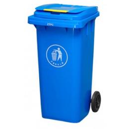 Бак для мусора пластиковый 360л., синий.  360А-2BL - Фото