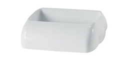 Кришка для урни 43Л PRESTIGE A74101, білий пластик. A74501 - Фото №1