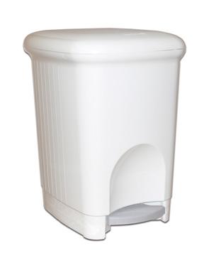 Корзина пластикова з педаллю 16 л.  M-816W - Фото №1